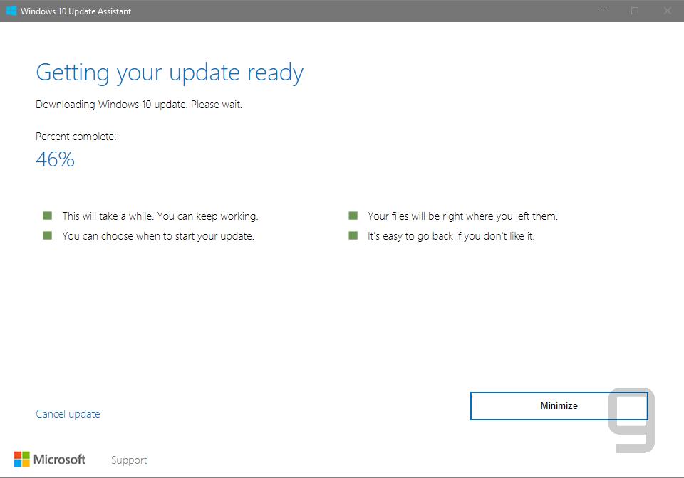 Windows Update on Creators Update